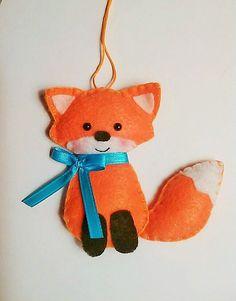 Felt Fox Plush Ornament by BeckyLynnCreations on Etsy