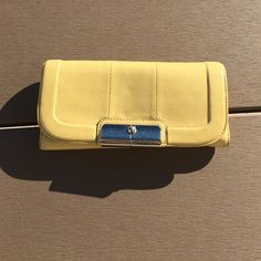 Authentic Coach Wallet Canary Yellow Coach Wallet Coach Bags Wallets