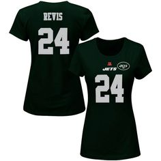 2c8d4b116 Darrelle Revis New York Jets Majestic Women s Plus Size Fair Catch Name    Number T-Shirt - Green