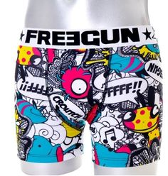 Mens Microfiber Sexy Urban Comic Book Style Printed Fashion Boxer Shorts By Freegun by Fit Men Underwear