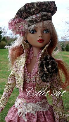 "2012 ELLOWYNE WILDE PRUDENCE MOODY IMPERIUM PARK OOAK OUTFIT ""RUFFLES AND LACE"" BY COLLET-ART 