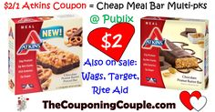 Atkins High Value Printable for Publix BOGO or Walgreens, Target, or RA sales!! plus free starter kit with email sign up!  Click the link below to get all of the details ► http://www.thecouponingcouple.com/atkins-high-value-printable-plus-meal-bars-1-00-each-publix/ #Coupons #Couponing #CouponCommunity  Visit us at http://www.thecouponingcouple.com for more great posts!