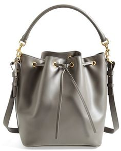 Saint Laurent 'Emmanuelle' Leather Bucket Bag on shopstyle.com