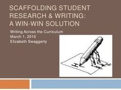 Scaffolding Student Research & Writing in Highe...