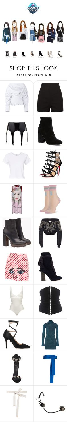 """""""LLY M!Countdown Number one of the week"""" by official-lly ❤ liked on Polyvore featuring Jacquemus, Witchery, RE/DONE, Christian Louboutin, Prada, Stance, Brunello Cucinelli, Zuhair Murad, Issey Miyake and Chloé"""