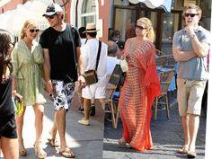 Aproveitando o meu desejo de verão: já postei looks da Gwyneth Paltrow hoje mais cedo, e agora chegou a vez da Jessica Simpson. Adorei os vestidos estilo caftan que ela tem usado para passear por Capri…