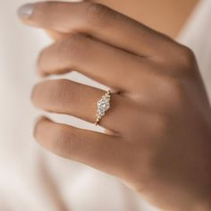 Diamond Snowdrift Ring   Handcrafted Engagement Ring   Melanie Casey Cute Promise Rings, Cute Rings, Necklace Chain Lengths, Necklace Sizes, Cute Engagement Rings, Diamond Engagement Rings, Delicate Rings, Ring Verlobung, Dream Ring