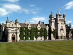"""""""A Victorian fantasy in the Scottish Highlands"""", Balmoral Castle is the place the Queen calls """"home"""" during the summer of any given year. Scotland Castles, Scottish Castles, Aberdeenshire Scotland, English Architecture, English Castles, Famous Castles, Royal Residence, England And Scotland, Ancient Ruins"""