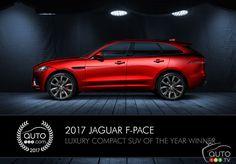 2017 #Jaguar F-PACE wins Auto123's Luxury Compact SUV award   Car News   Auto123