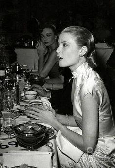 Grace Kelly, Princess of Monaco, at #tea time (tea pot in background). #celebrities