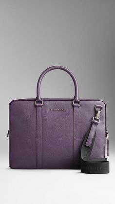 Dusty violet London Leather Crossbody Briefcase - Image 1