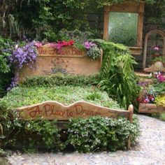 A fairytale bedroom garden (from a room with a view)