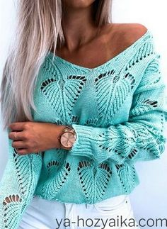 Knitting Paterns, Knitting Stitches, Knitting Needles, Crochet Blouse, Crochet Top, Off Shoulder Fashion, Summer Knitting, Knitting Accessories, Knit Fashion