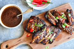A delicious recipe for Hoisin & Ginger Pork Ribs made with Asian cooking staples.