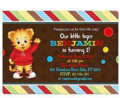 daniel tiger party invitation ~ $6