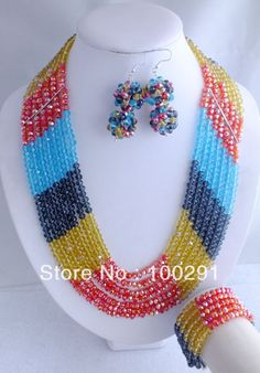 Free Shipping !!! A-152 Fashion Crystal Beads Jewelry Set For African Wedding  $75.66