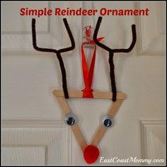 Simple Reindeer Ornament