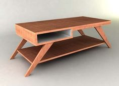 Retro Modern Eames-style Coffee Table Furniture Plan by plancanvas Coffee Table Design, Coffee Table Plans, Coffee Table Furniture, Coffee Table With Storage, Modern Coffee Tables, Modern Table, Outdoor Furniture Plans, Woodworking Furniture Plans, Woodworking Projects That Sell
