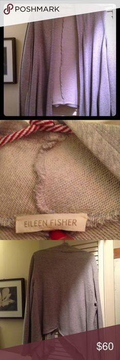 👑 Eileen Fisher wrap cardigan 👑 Buttery soft cotton, wraps around you like a warm hug! It's a loose medium, looks great with boots and leggings! Eileen Fisher Sweaters Cardigans