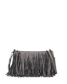 80fe490f23 Rebecca Minkoff Finn Leather Fringe Crossbody Bag