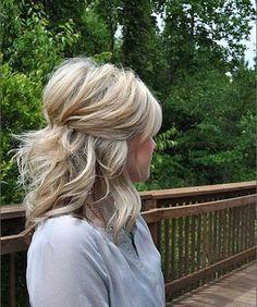 Half Up Half Down Thick Blonde Hair