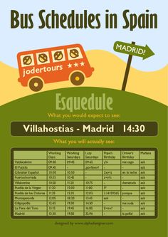 Alphadesigner Bus Schedules in Spain