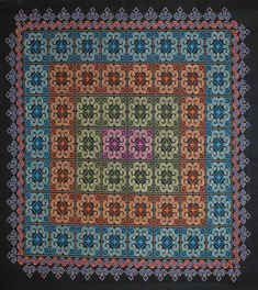 Hmong Embroidery Cross stitched on monk's cloth with elephant foot and ram's horn motifs. Cross Stitch Embroidery, Cross Stitches, Monks Cloth, Family Brand, Swedish Weaving, Hmong Clothing, 3 D, Elephant, Horn