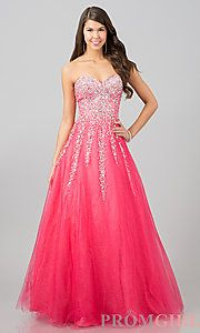 Buy Floor Length Strapless Sweetheart Gown at PromGirl