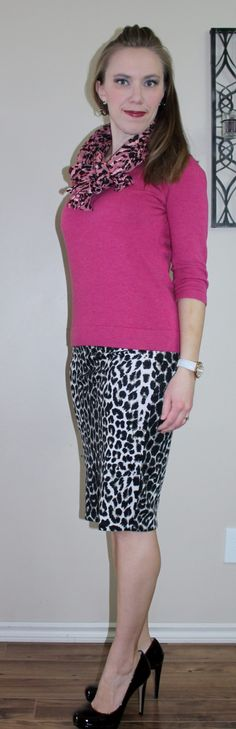 http://stylejourney.ca/lands-end-sweaters/ Outfit  designed to dazzle! Wear for a fashion event or art gala etc. #mamastyle #dazzle #heels #pink