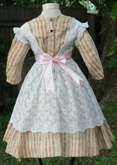 Civil War Era Child's Lace Pinafore C 1860s | eBay