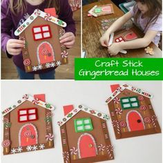 Craft Stick Gingerbread Houses Craft Stick Gingerbread Houses This Gingerbread House is the Most Adorable Christmas Craft for Kids! Frugal Fun For Boys and Girls The post Craft Stick Gingerbread Houses appeared first on Craft for Boys. Christmas Craft Projects, Christmas Activities, Craft Stick Crafts, Preschool Crafts, Holiday Crafts, Gingerbread Man Activities, Gingerbread Crafts, Gingerbread Houses, Christian Christmas Crafts