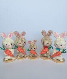 Crocheted Easter bunnies