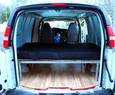 inside finished part one diy gmc savana conversion van Cargo Van Conversion, Diy Van Conversions, Van Conversion Interior, Camper Van Conversion Diy, Van Interior, Chevy Astro Van, Chevy Van, Van People, Chevy Express