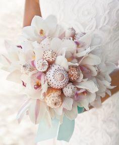 Blumenstrauß Hochzeit Ideen Muschel selber machen                                                                                                                                                                                 Mehr