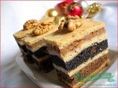 Ingrediente aluat: 750 g faina, 150 g untura(sau 350 g unt sau margarina), Romanian Desserts, Romanian Food, Romanian Recipes, Sweets Recipes, Cake Recipes, Cooking Recipes, Hungarian Cake, Something Sweet, Sweet Tooth