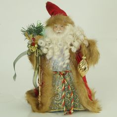 Check out the awesome curls in the beard on this Santa Tree Topper! Christmas Tree Toppers, Santa Christmas, Christmas Ornaments, Unique Tree Toppers, Little People, Curls, Holiday Decor, Awesome, Check