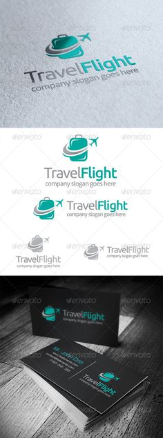 Travel Flight - Logo Design Template Vector #logotype Download it here: http://graphicriver.net/item/travel-flight-logo/5164772?s_rank=344?ref=nexion