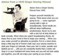 Is this hysterical or what? How many of you follow this advice?