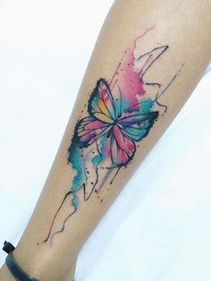 Lindo Mariposa estilo Acuarelas