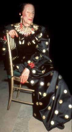Diana Vreeland - I think of her as living art.--one of the original broads