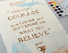 "Check out new work on my @Behance portfolio: ""Watercolor Poster to Eragon"" http://on.be.net/1EgGvoT"