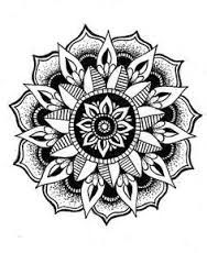 Image result for black and white circle mandala 6 sided
