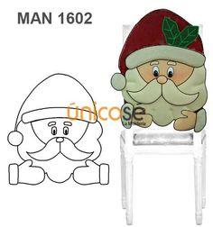FUNDA RESPALDO SILLA NAVIDAD Christmas Chair, Christmas Sewing, Christmas Wood, Christmas Projects, Christmas Stockings, Christmas Holidays, Christmas Decorations, Christmas Ornaments, Felt Crafts