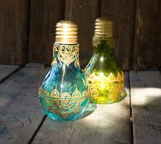 Henna painted vases flower vase lightbulb vase bohemian