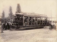 Álbum Fotografias de São Paulo 1900 - Inauguração do primeiro bonde elétrico Anônimo (1900/05/06)