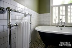 Simple classic bathroom with encaustic floortiles —Clermont Terrace, Brighton | The Brighton Bathroom Company