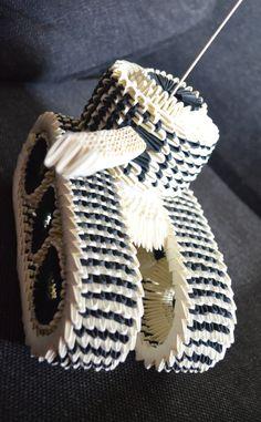 3D Origami Tank by Denierim.deviantart.com on @deviantART