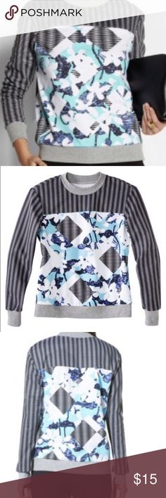 PETER PILOTTO for TARGET SWEATSHIRT Peter Pilotto for Target floral/geo print crew neck sweatshirt. Size XS. Never been worn or washed. Super soft/cozy on the inside, adorable chic modern on the outside! Peter Pilotto for Target Tops Sweatshirts & Hoodies