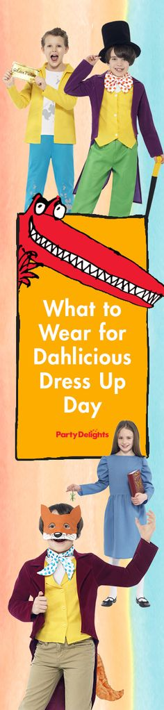 Check out all our Roald Dahl fancy dress ideas for Dahlicious Dress Up Day on Friday 25th September 2015. A collection of fun costumes ideas for kids that also work well for World Book Day and Roald Dahl Day.