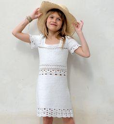 Modèle robe au crochet 100% coton - Modèles tricot enfant - Phildar